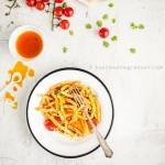 Maccheroni mit hausgemachtem Tomatenöl