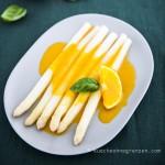 Weißer Spargel mit Orangen-Curry-Sauce