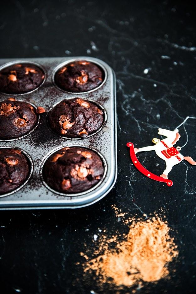 Weihnachtliche Schoko-Lebkuchen-Muffins